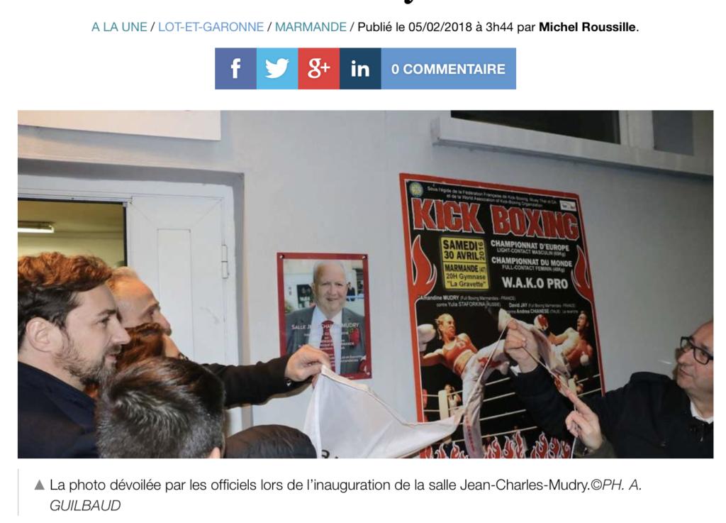Full boxing : l'hommage au président Mudry