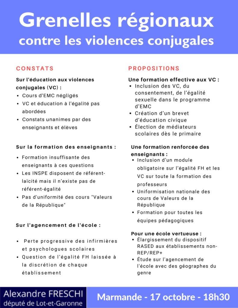 Grenelles régionaux contre les violences conjugales