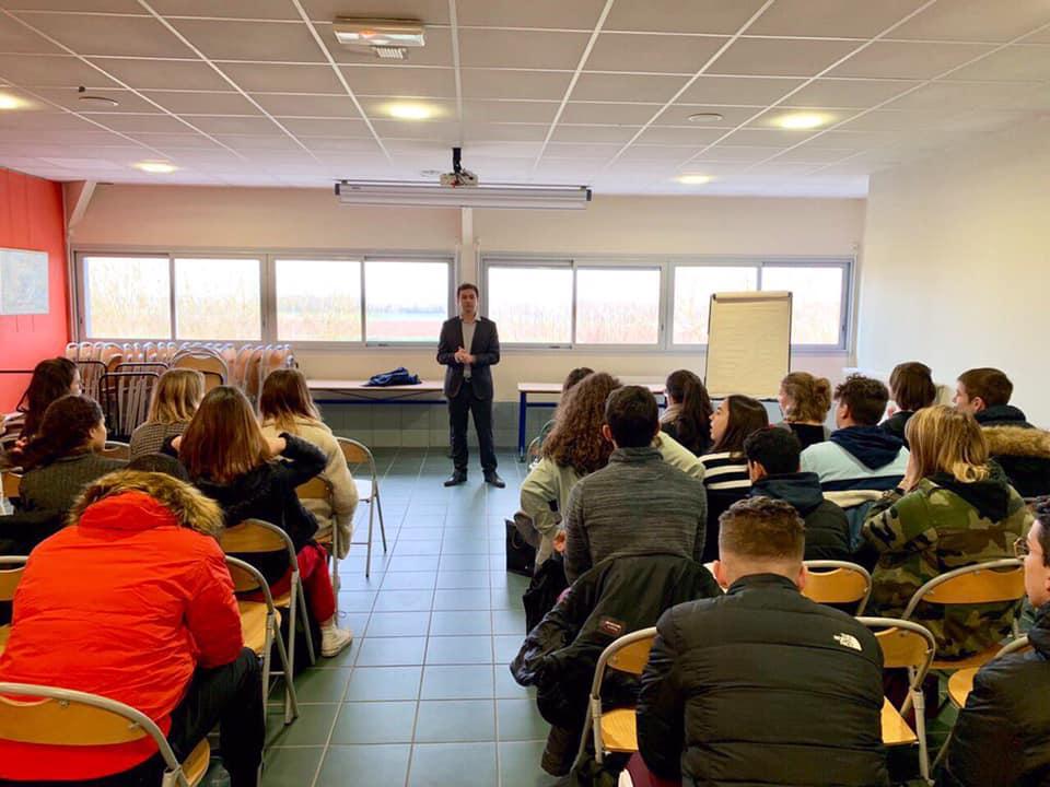 Le 27 janvier 2020, rencontre avec les 4ème et les Terminales de la Cité scolaire Stendhal d'Aiguillon