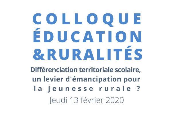 Colloque Éducation et Ruralités